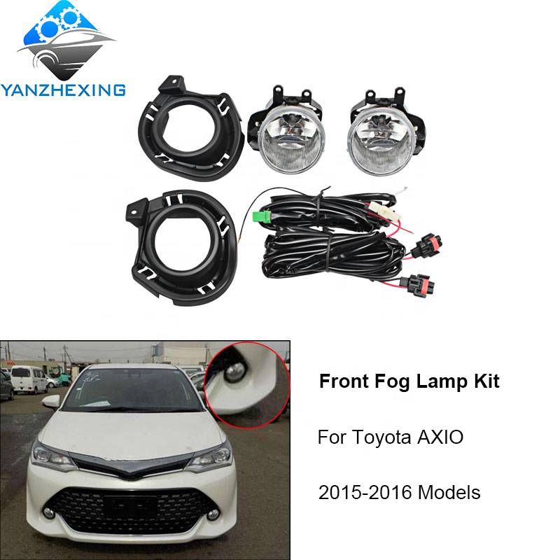 YZX Front Bumper fog lamp light kit for Toyota AXIO 2015 2016 12V Halogen Running day lamp
