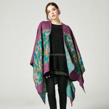 Winter Poncho Fashion Women Scarf Oversize Thick Cashmere Ponchos And Caps Knit Blanket Female Echarpe Pashmina
