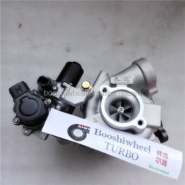 V8 twin turbo Turbo VB22 Do Lado Direito 17201-51020 turbocharger para Landcruiser V8 D 17201-51020