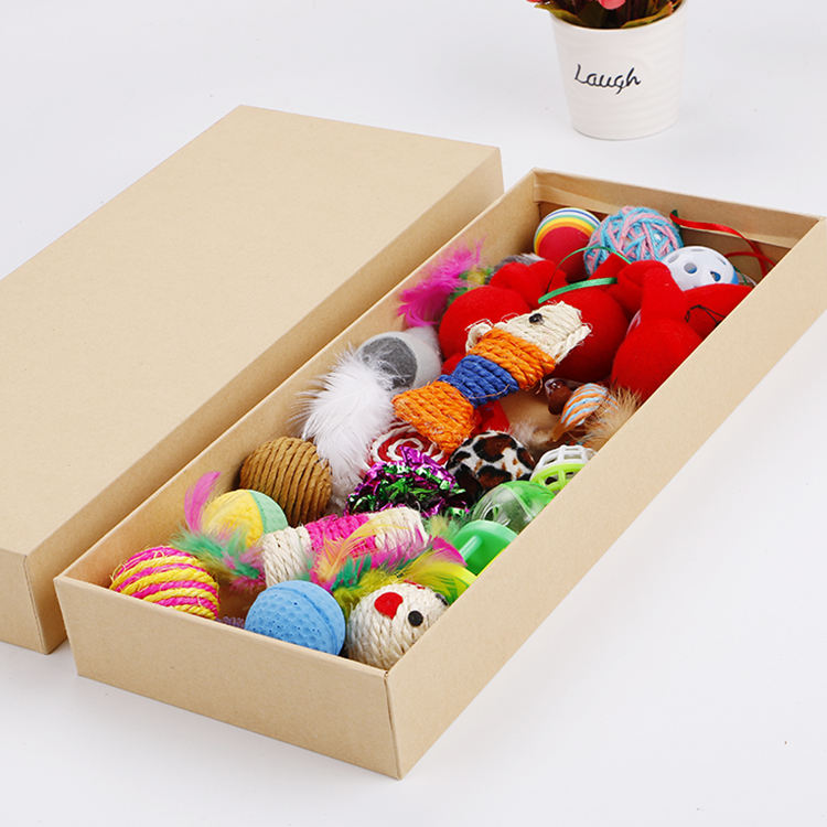 cat toy set gift box assorted 24pcs pet supplies pack wholesale in stock fast delivery pet toys