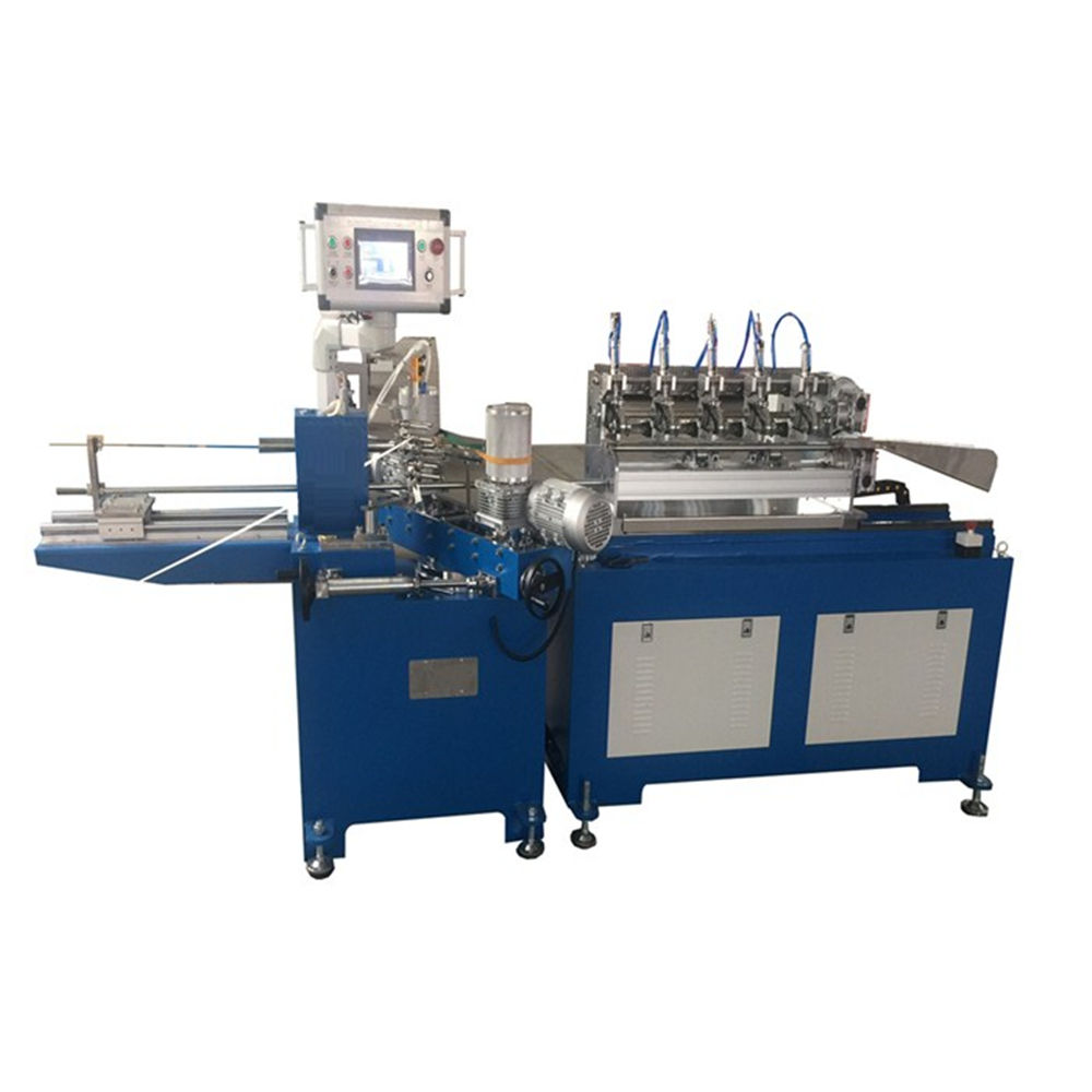 Single drinking straw filling and sealing line