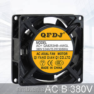 QFDJ 80mm 8025 ac 380 V zonne-energie koelventilator panasonic radiator fan