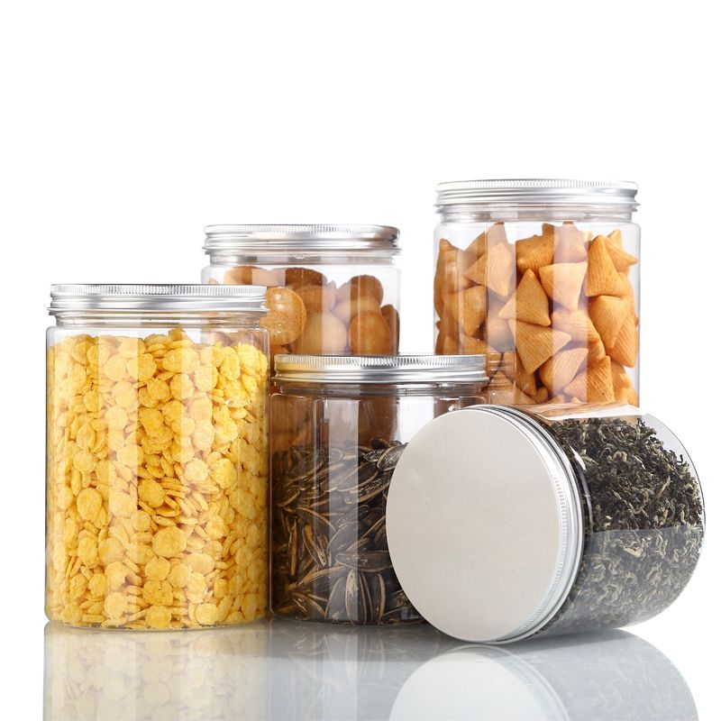 Manufacturer PET Plastic Food Jar With Screw Top Lid