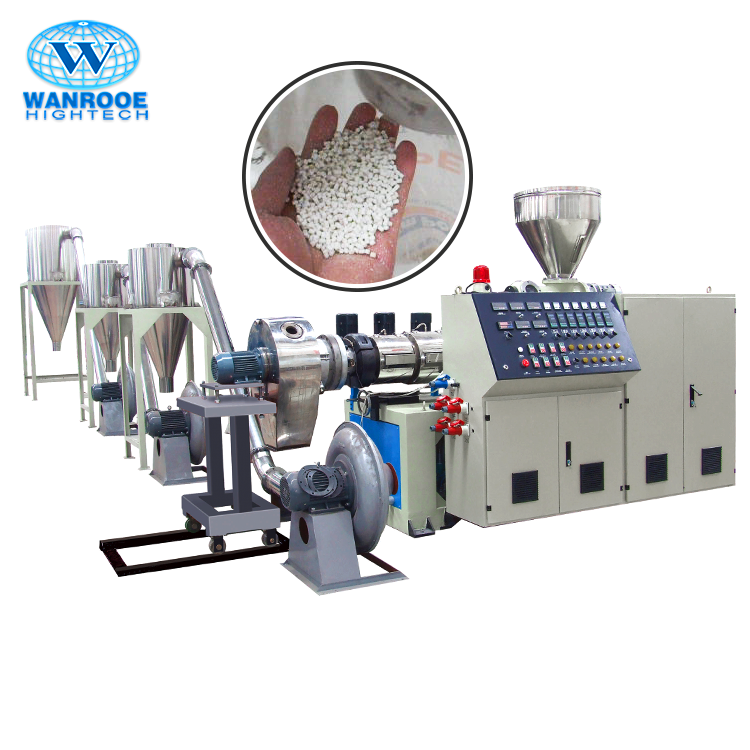 Waste Plastic Recycling Granules Making Machine PVC Granulating LineとDie Face Cutter
