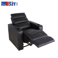 Usit UV 821 New arrival black leather VIP movie cinema chair home theater sofa