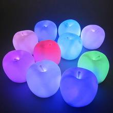 Apple shaped color changing LED light beauty and warm play for Christmas eve new year gift