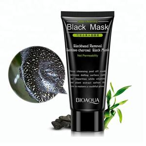 OEM bioaqua bamboo charcoal blackhead removal peel off black mask