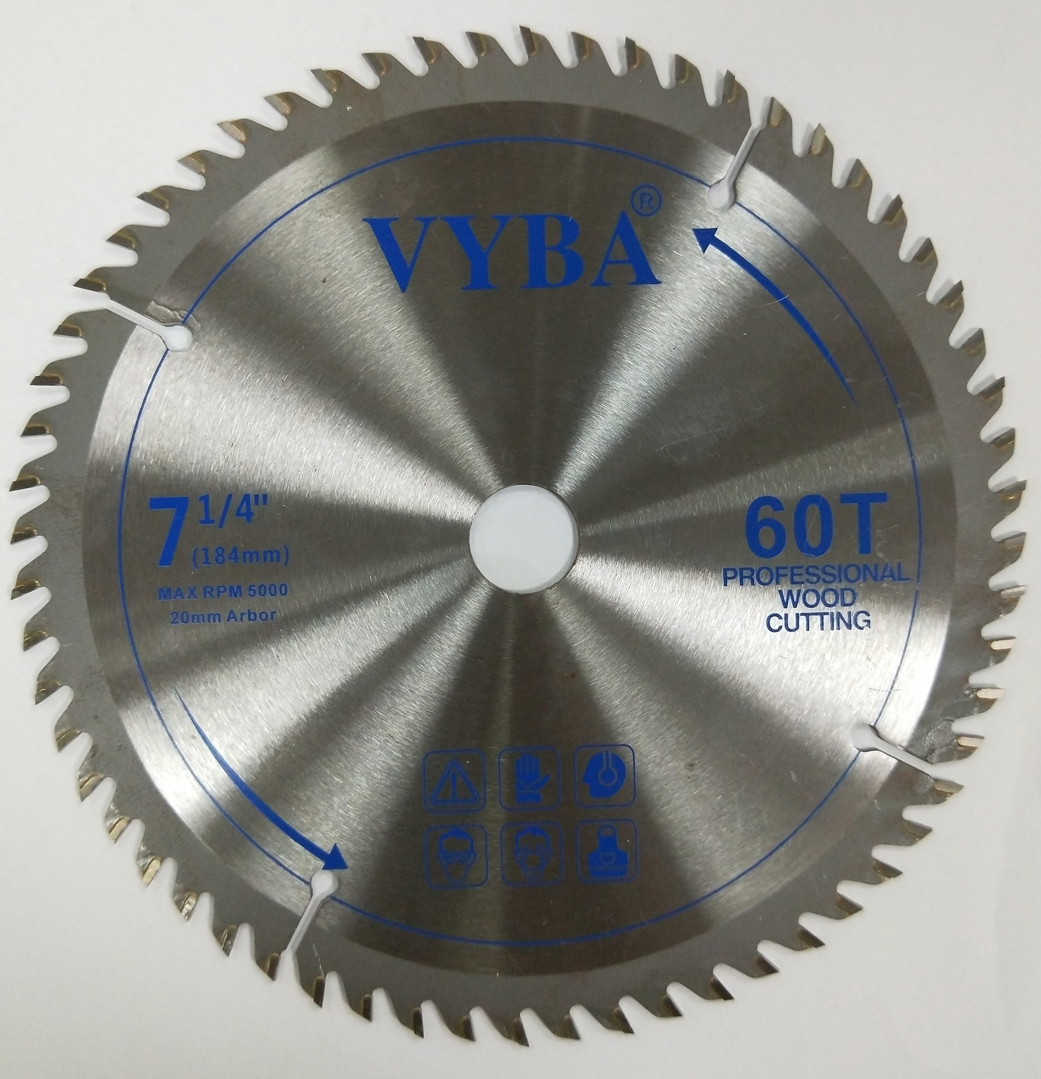 7 1/4 inch TCT round saw blades for wood