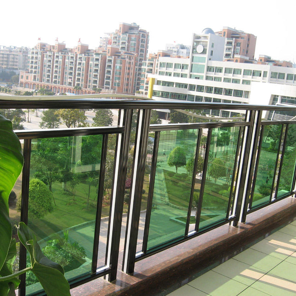 Simple Design Aluminum With Glass Handrail Balcony Railings Balustrade Guangzhou