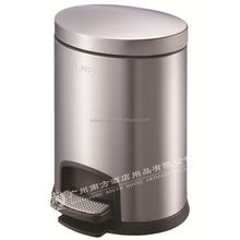 5L Stainless steel pedal waste bins household pedal bin kitchen garbage bin