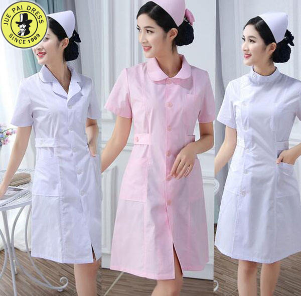 Nurses uniforms overalls white powder blue long sleeves short - sleeved winter summer white coat pharmacy clothes