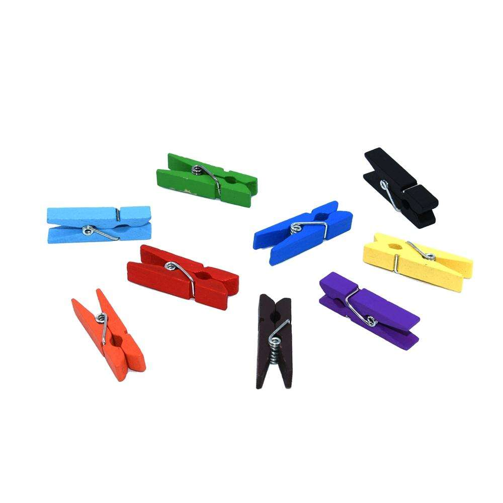Log clip manufacturers cartoon diy wooden clip colorful mini clip