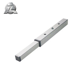 Hot selling silver anodized aluminum square telescopic tubing