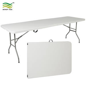Portable Display Stand Plastic Rectangle Folding Table Chair