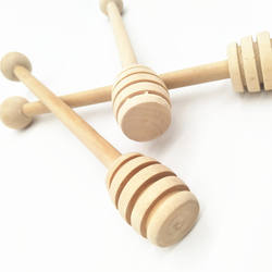 15.5CM Wooden Honey Dipper With Ball On The Top