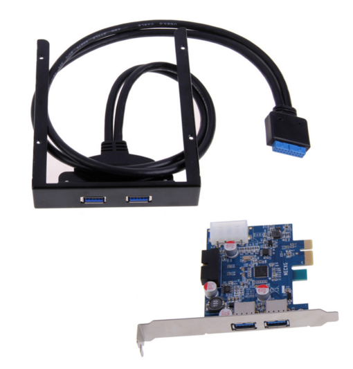 2 ports USB 3.0 Carte PCI Express + 3.5 Carte Mère Disquette Baie Panneau Avant Pour Windows XP/Vista /Windows 7