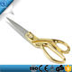 Gold Tone Handle Stainless Steel Blade Tailor Sewing Scissors Textile Shears ,fabric cutting scissors