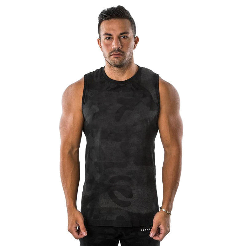 Cut off muscle gym tank tops men camo tank top for men