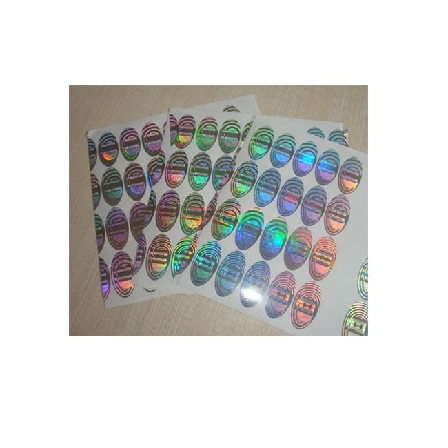 customized anti counterfeiting hologram sticker removable sticker customized hologram scratch off sticker