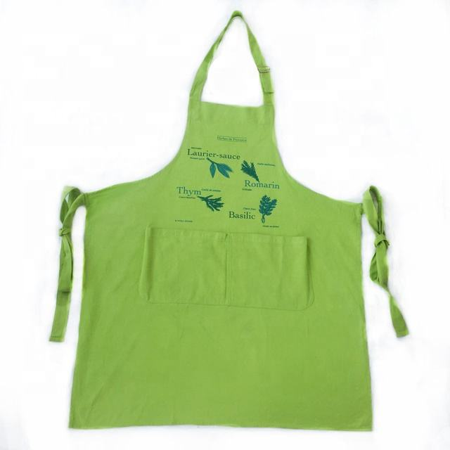 2019 New long customized logo adjustable chef and kitchen aprons