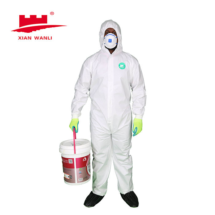 Chemical Splash Resistant Disposable Coverall White Type 5/6