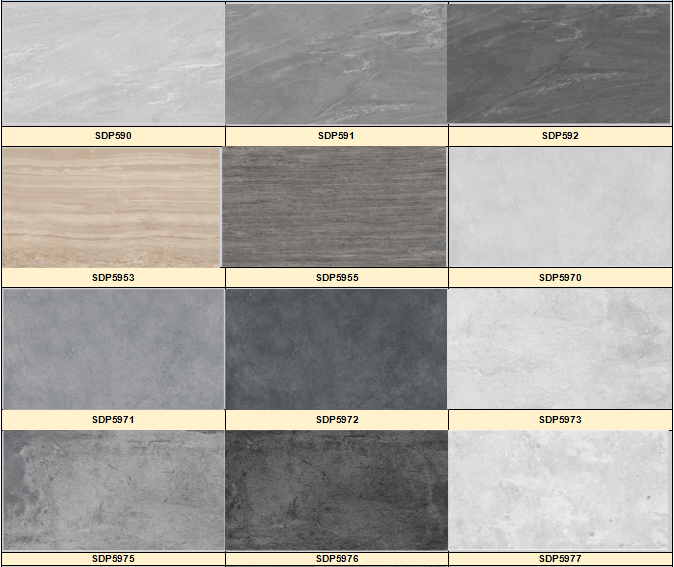 450x900mm Dark Grey Premium Quality Latest Design Wall and Floor Glazed Rustic Porcelain Tile China Manufacture