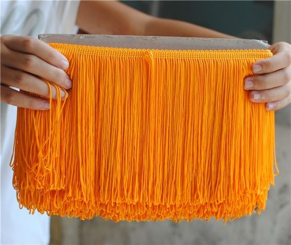 RSP024 Fringe Lace Trim/Macrame/Tassel Lace For Garment/Carpet Yellow Tassel Fringe
