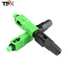 China Manufacturer FTTH Field Quick Assembly Fiber Optic SC APC Fast Connector
