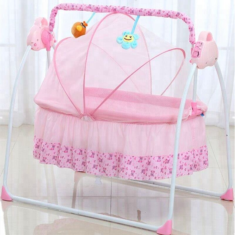 Automatic baby swing bed with remote control function