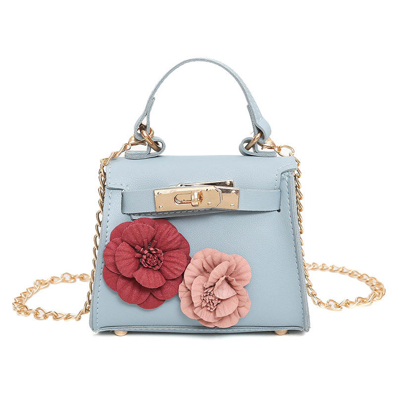 Children bag female mini bag flower decoration handbag fashion bag Korean style shoulder slung handbag