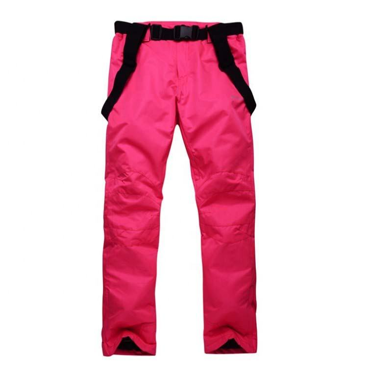 Red solid color windproof waterproof breathable women maternity ski pants ski snowboard trousers