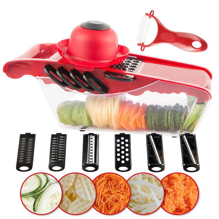 Fruit Vegetable Tools Mandoline Vegetable Slicer Cutter With 6 Interchangeable Blades