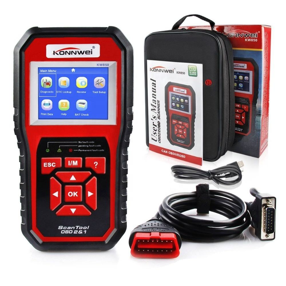 Car Diagnosis Universal OBD Engine Code Reader ODB2 Scanner Auto Diagnostic Tools KONNWEI KW850