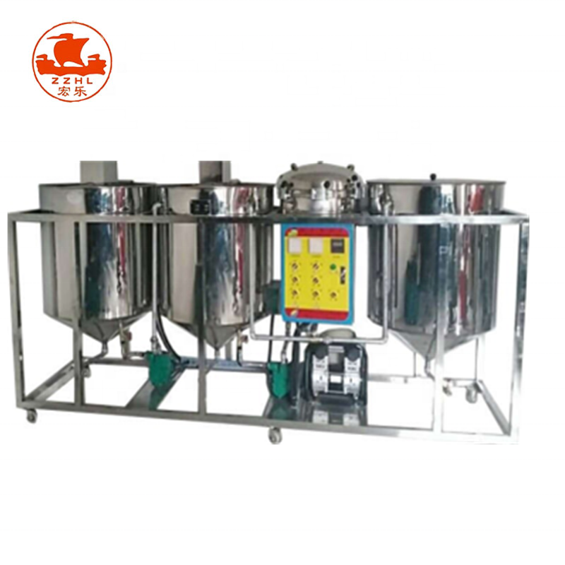 Crude oil refining machine for sunflower and palm and olive oil refined equipment