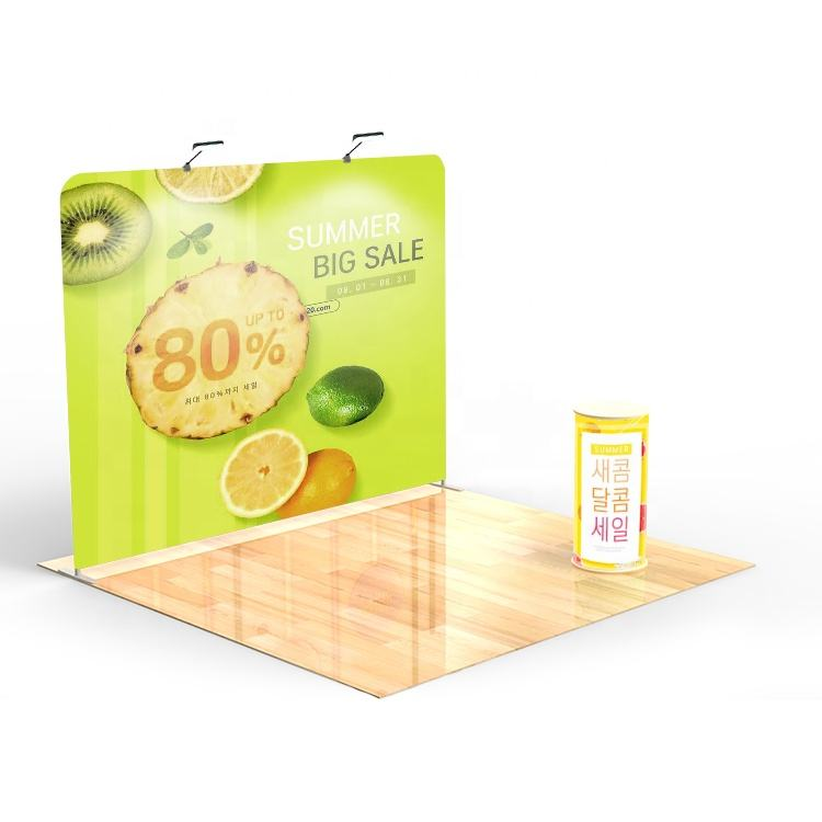 Custom printing portable tradeshow stand display standard size fair exhibition booth 3x3