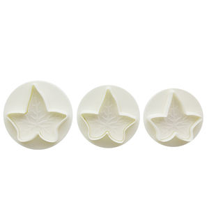 3pcs/set large format Maple Leaf biscuit clay fondant cake pastry plunger cutter//