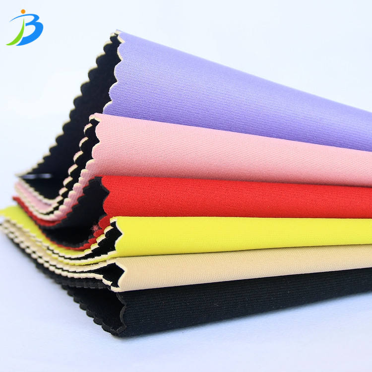 Jianbo Pink Color Neoprene Polyester Fabric SBR with Polyester Fabric Coated for Sale
