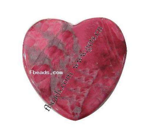 New Wholesale Natural turquoise native howlite cabochon Heart dyed different size for choice red 287308