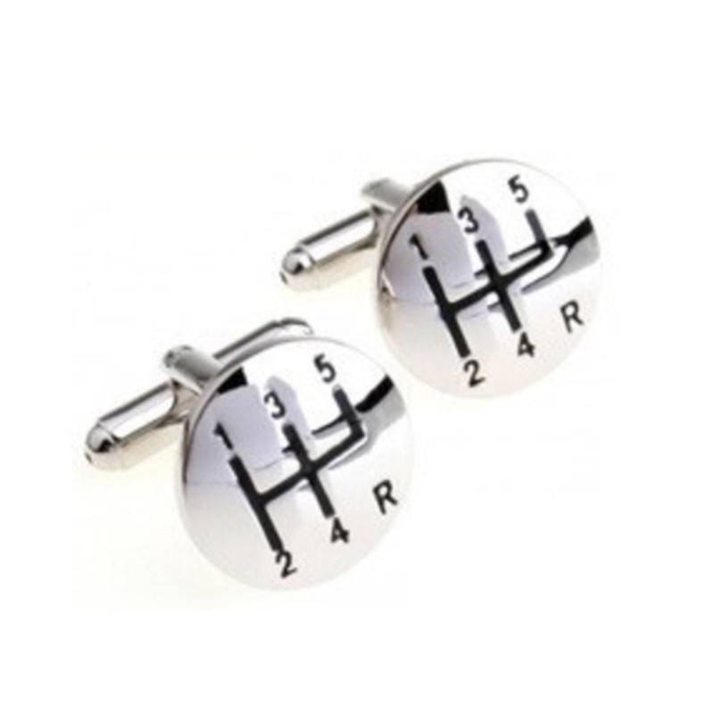 Beautiful design custom metal cufflinks tie clip set