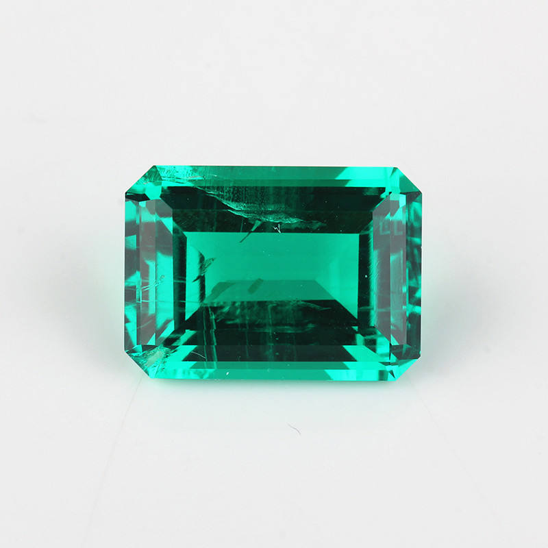 Hot Sale Hydro Emerald 7x9mm Synthetic Loose Gemstone for Jewelry