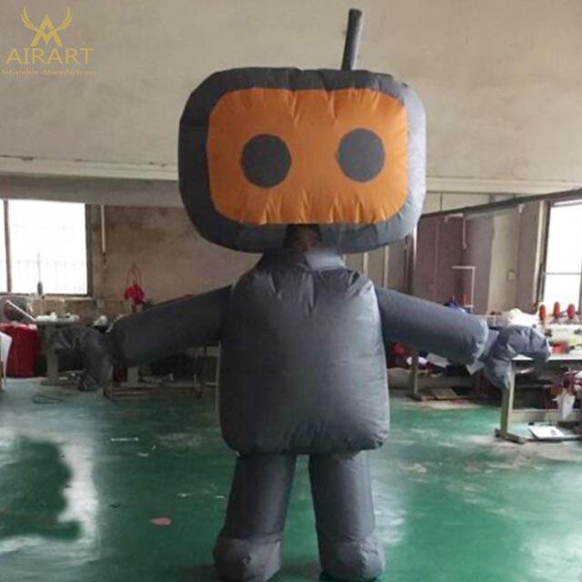 Customized inflatable square alien costumes