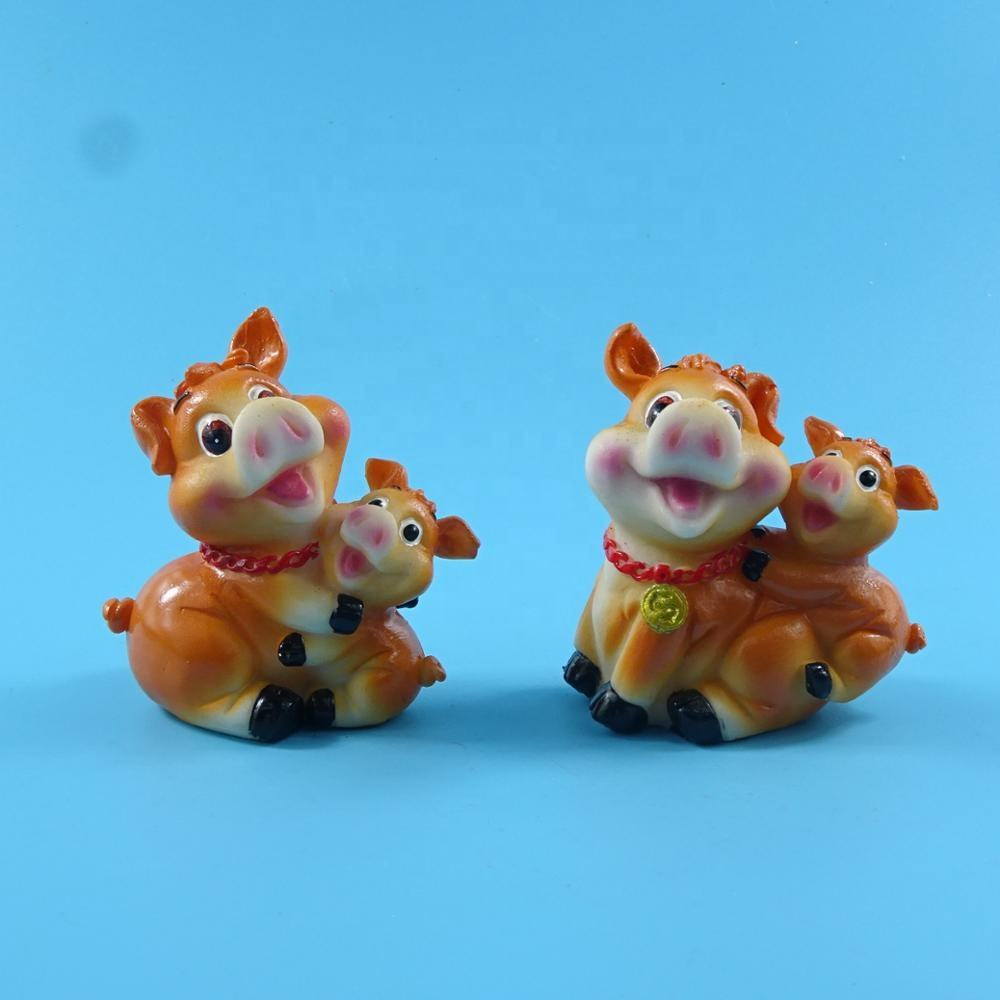 New arrivals home crafts resin animal skull with cute pig shape
