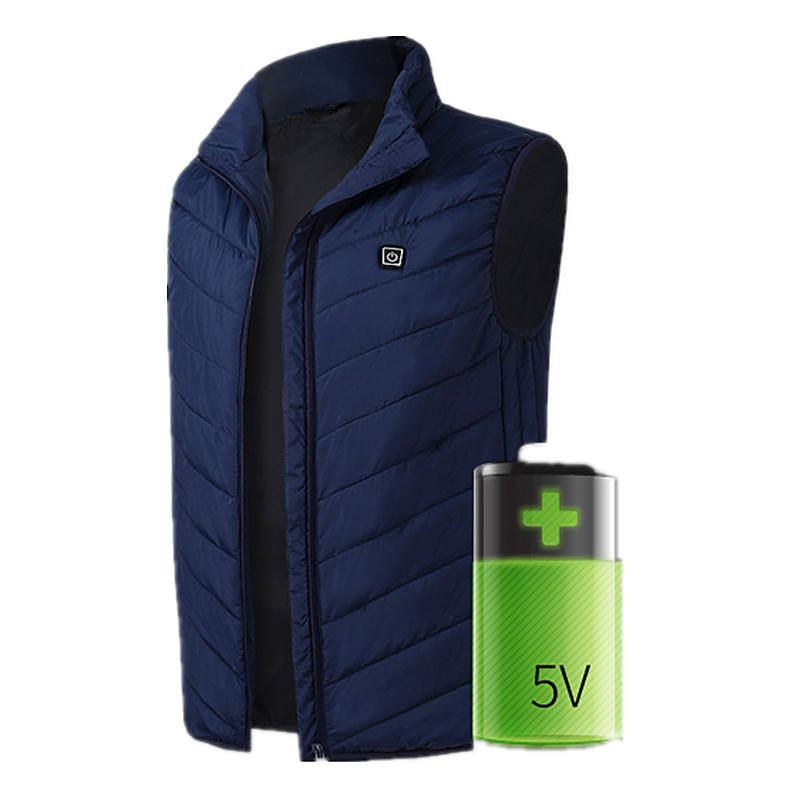 5V 7.4V Usb Sleeveless Rechargeable Battery Electric Heated Jacket Vest