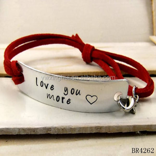 Hot new products for 2015 custom design bracelet of leather