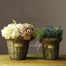 Wholesale cheap natural hand-made wicker hanging basket