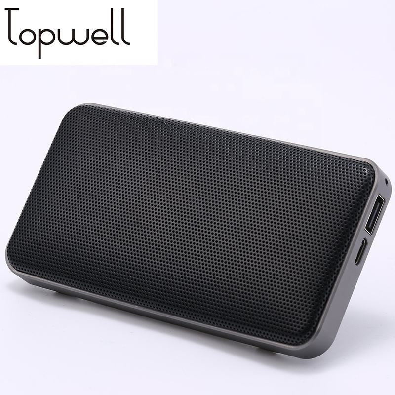 High End Hifi Saku Speaker Power Bank 2600 MAh dengan Logam Tabel Stander Bulkier Wireless Portable Speaker