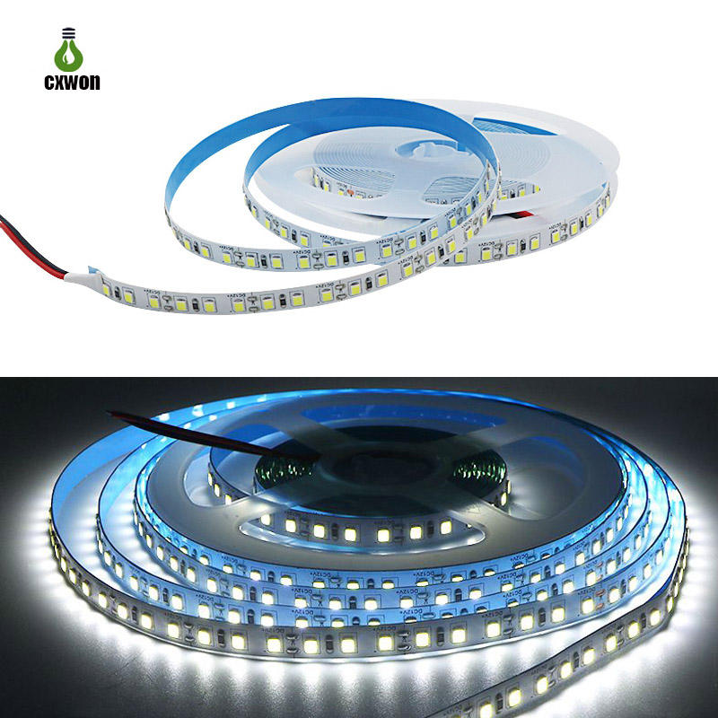 High Brightness 2835 led light strip 5M 600led Non-waterproof IP20 120led/m Cold White outdoor led strip light