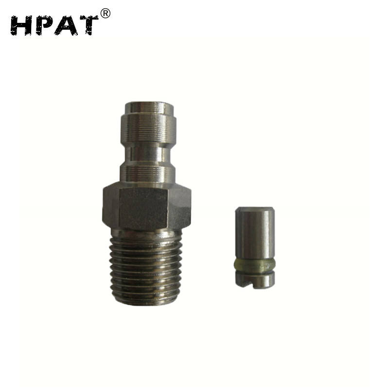 Paintball Accessory Stainless Steel Paintball Tank Regulator HPA/N2 One Way Foster Fill Nipple Kit 1/8-27 NPT