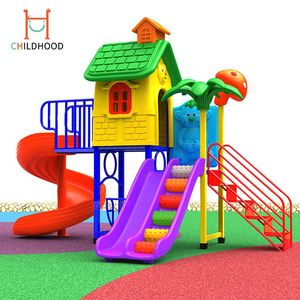 Kids games outdoor small spiral slide playground equipment