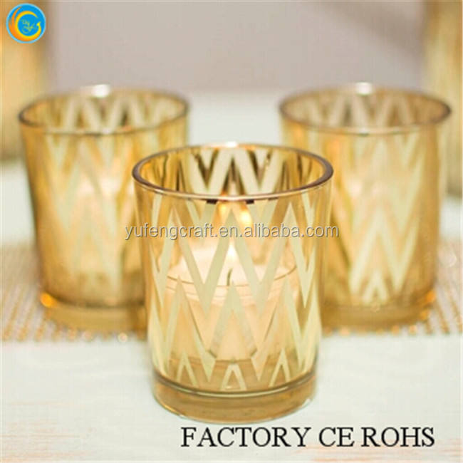 Product quality protection / Glass Silver Tea light Holder / Personalised Christmas Candle Jars